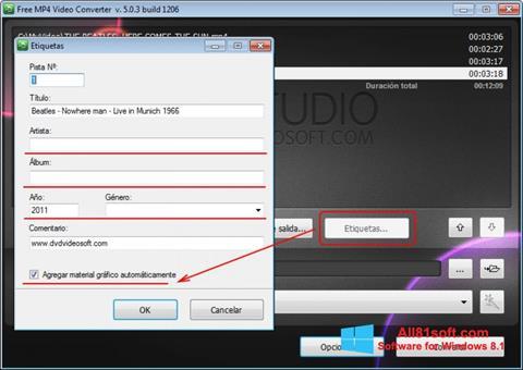 צילום מסך Free MP4 Video Converter Windows 8.1