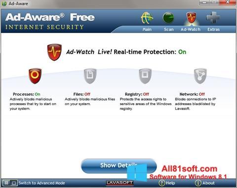 צילום מסך Ad-Aware Windows 8.1