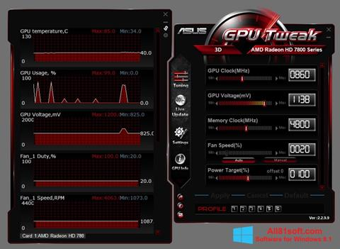 צילום מסך ASUS GPU Tweak Windows 8.1