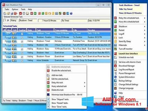 צילום מסך Auto ShutDown Windows 8.1