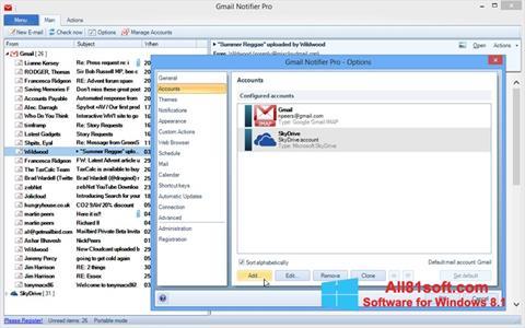 צילום מסך Gmail Notifier Windows 8.1
