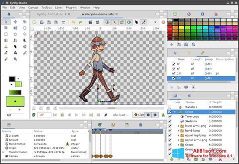צילום מסך Synfig Studio Windows 8.1