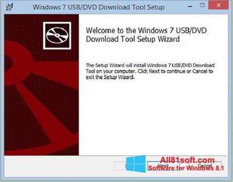 צילום מסך Windows 7 USB DVD Download Tool Windows 8.1