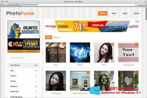 צילום מסך PhotoFunia Windows 8.1