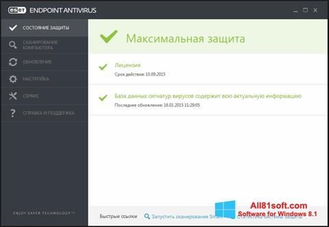 צילום מסך ESET Endpoint Antivirus Windows 8.1