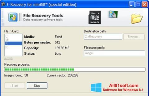 צילום מסך F-Recovery SD Windows 8.1