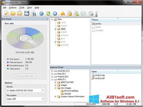 צילום מסך Astroburn Lite Windows 8.1