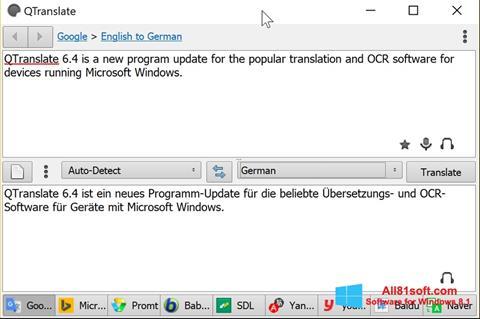 צילום מסך QTranslate Windows 8.1