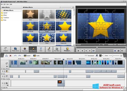 צילום מסך AVS Video Editor Windows 8.1