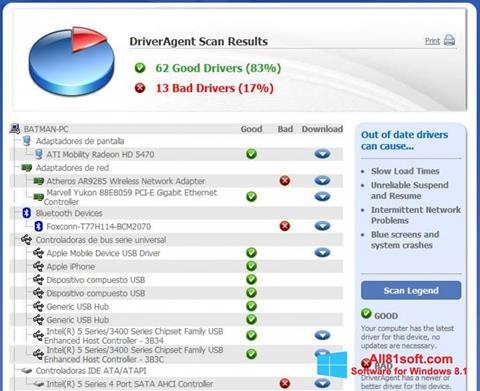 צילום מסך DriverAgent Windows 8.1