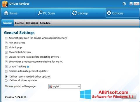 צילום מסך Driver Reviver Windows 8.1