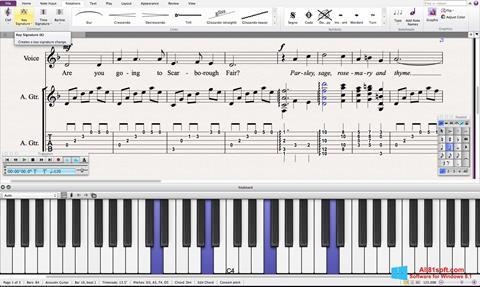 צילום מסך Sibelius Windows 8.1