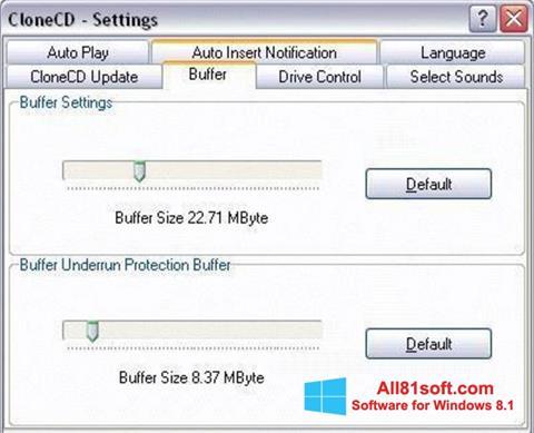 צילום מסך CloneCD Windows 8.1