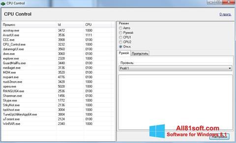 צילום מסך CPU-Control Windows 8.1