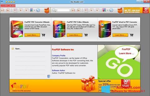 צילום מסך Doc Reader Windows 8.1