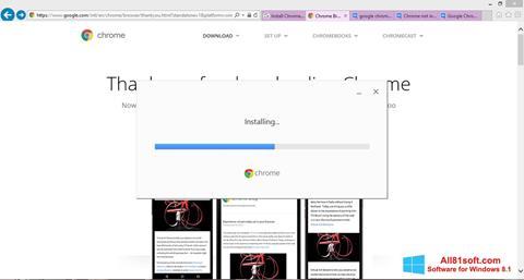 צילום מסך Google Chrome Offline Installer Windows 8.1