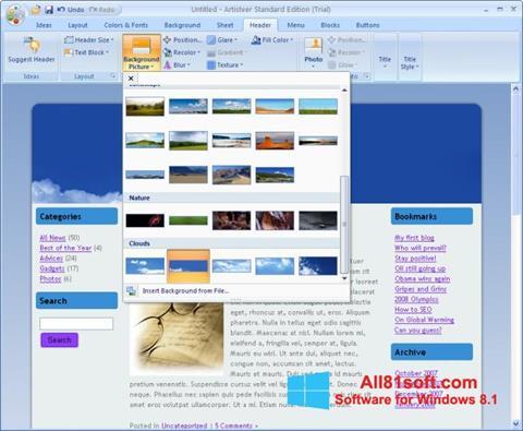 צילום מסך Artisteer Windows 8.1