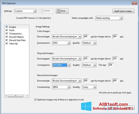 צילום מסך Adobe Acrobat Pro DC Windows 8.1