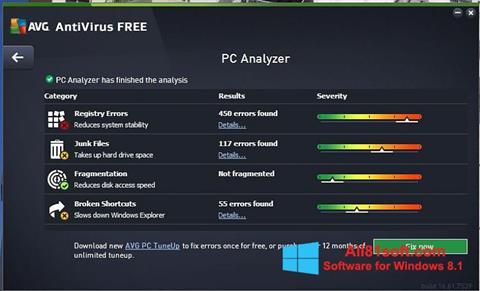 צילום מסך AVG AntiVirus Free Windows 8.1