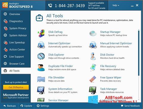 צילום מסך Auslogics BoostSpeed Windows 8.1