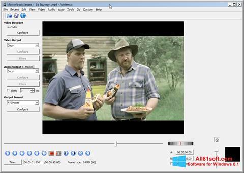 צילום מסך Avidemux Windows 8.1