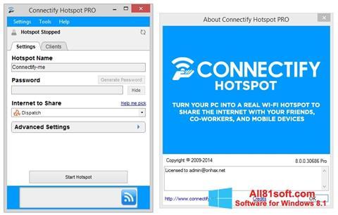 צילום מסך Connectify Pro Windows 8.1