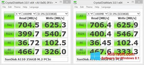 צילום מסך CrystalDiskMark Windows 8.1