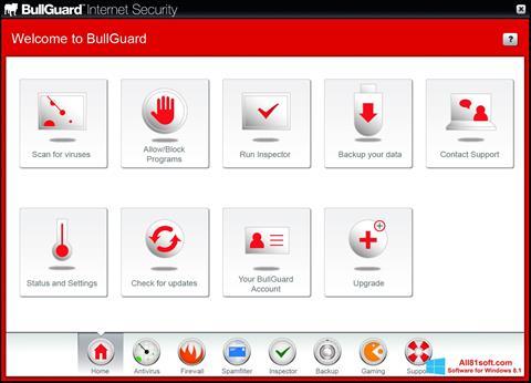צילום מסך BullGuard Windows 8.1