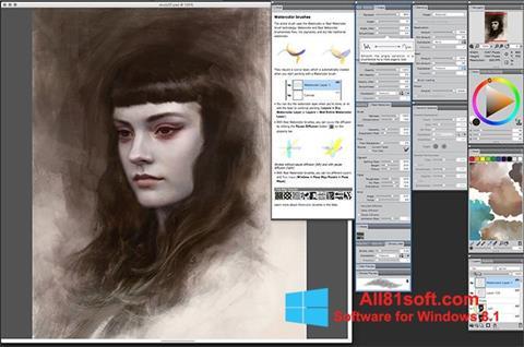 צילום מסך Corel Painter Windows 8.1