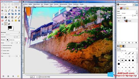 צילום מסך GIMP Windows 8.1
