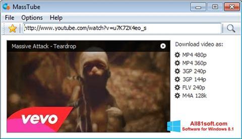 צילום מסך MassTube Windows 8.1