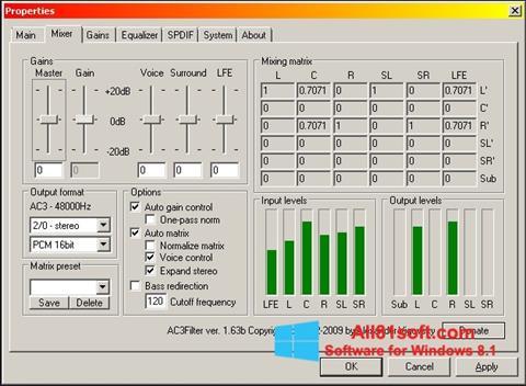 צילום מסך AC3 Codec Windows 8.1