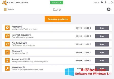 צילום מסך Avast Free Antivirus Windows 8.1