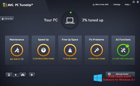 צילום מסך AVG PC Tuneup Windows 8.1