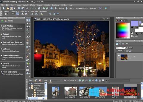 צילום מסך PaintShop Pro Windows 8.1