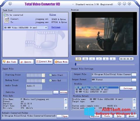 צילום מסך Total Video Converter Windows 8.1