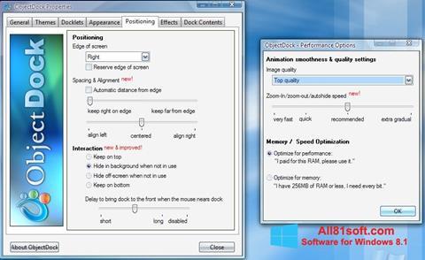 צילום מסך ObjectDock Windows 8.1
