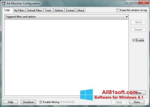 צילום מסך Ad Muncher Windows 8.1