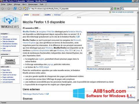 צילום מסך Mozilla Firefox Windows 8.1