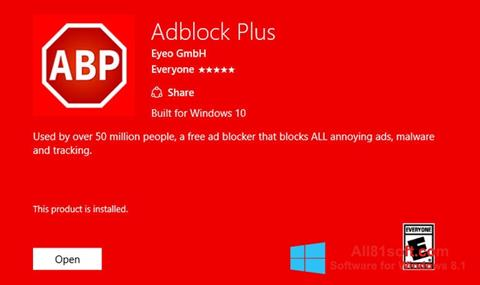 צילום מסך Adblock Plus Windows 8.1