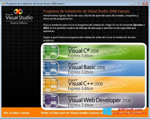 צילום מסך Microsoft Visual Studio Windows 8.1