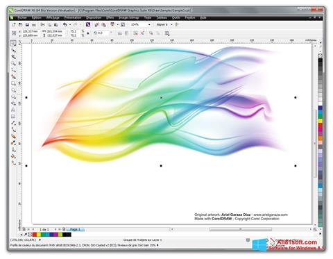צילום מסך CorelDRAW Windows 8.1