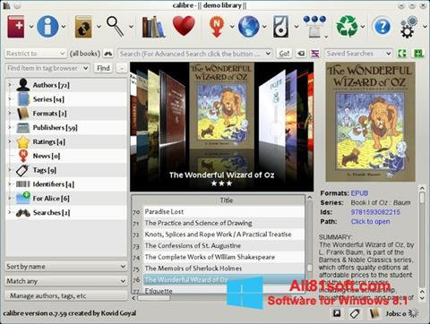 צילום מסך Calibre Windows 8.1