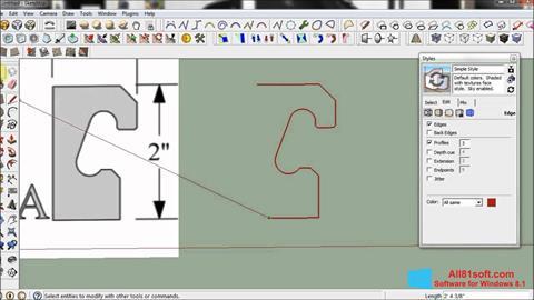 צילום מסך SketchUp Windows 8.1