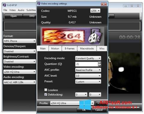 צילום מסך XviD4PSP Windows 8.1