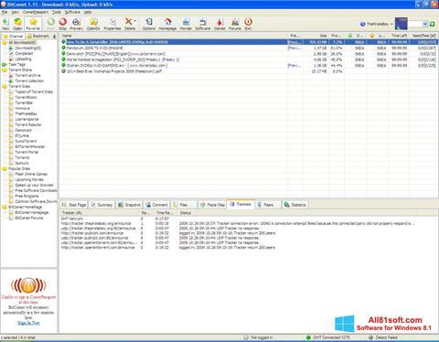 צילום מסך BitComet Windows 8.1