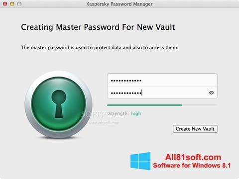 צילום מסך Kaspersky Password Manager Windows 8.1
