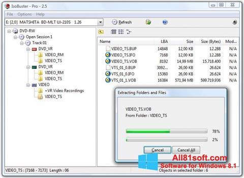 צילום מסך IsoBuster Windows 8.1