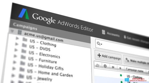 צילום מסך AdWords Editor Windows 8.1