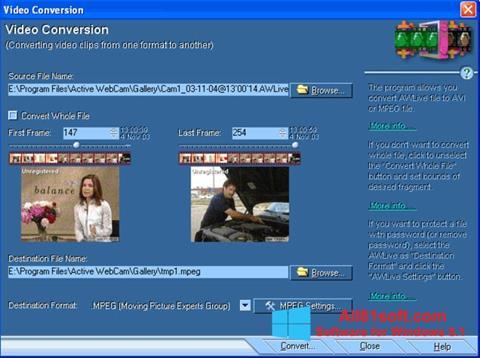 צילום מסך Active WebCam Windows 8.1
